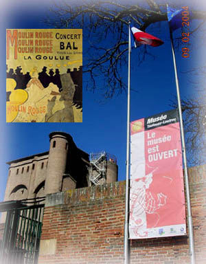Toulouse-Lautrec筆下所畫的Moulin Rouge紅磨坊夜總會與美術館