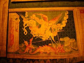 啟示錄壁毯之一『米迦勒和他的天使屠龍記』
