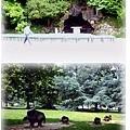 Roger Salengro公園裡的可愛小豬群美術塑像