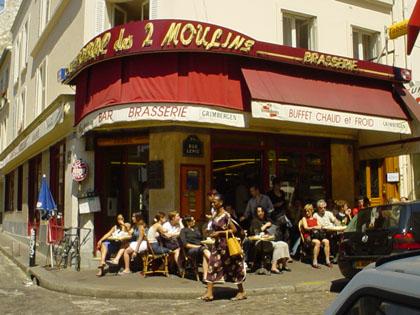蒙馬特裡,Amelie的咖啡館...