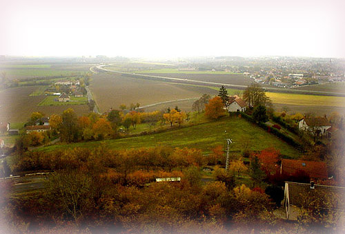 Riom Limagne區域~Montpensier山丘上的眺望