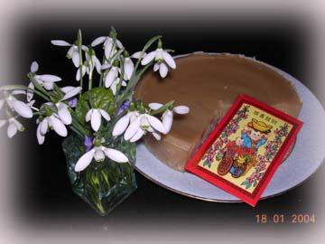 我做的年糕與法國一年中最早開的花 Perce Neige