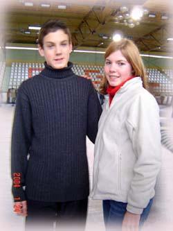溜冰場上十五歲的Christoph 跟他的初戀女友Horore