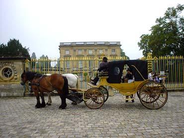 小翠儂宮前的遊園馬車