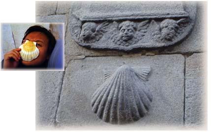 古城牆上到處都可以輕易發現扇貝雕飾