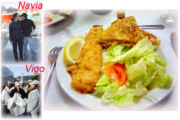 拜訪的兩個漁港與Galicia的地方名菜~炸魚塊與薯餅