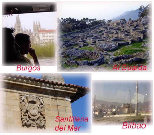 葡萄牙邊境Al Guarda的Celte人遺跡與旅途中行經不屬於Galicia的北西班牙各城鎮