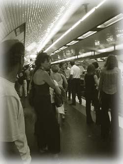 地鐵站,巴黎人們
