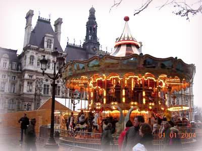 新年一大早, 散步在Paris...