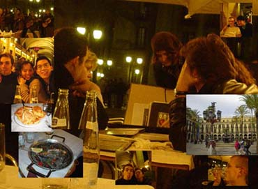 第一晚,我們在皇家廣場用海鮮飯