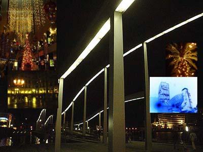 巴塞隆納港口區通往DISCO BAR,浪漫的人行便橋