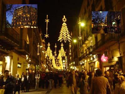 巴塞隆納的街 ~在聖誕燈飾的照耀下,夜是美的.....