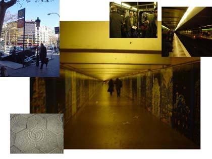 一望無盡的接駁通道,巴塞隆納地鐵在歐洲算是很新穎的了!!