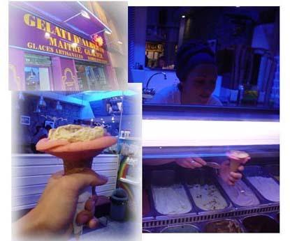 GELATI D'ALBERIO義大利冰淇淋店 ,每個冰淇淋都會手工幫您砌成花狀