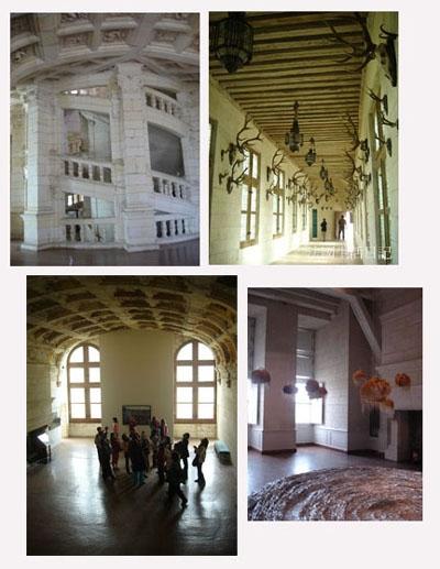 香堡著名的螺旋樓梯與內部房間