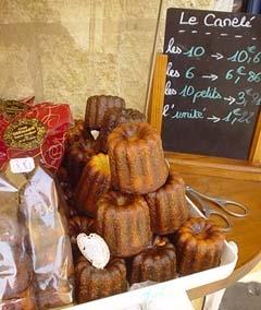 波爾多當地的著名甜點, 黑黑甜甜濕濕質感的小蛋糕Canele