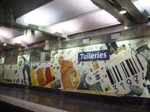 巴黎市中心,一號線上的杜樂麗花園站