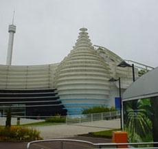 Futuroscope充滿了現代化新穎的建築物