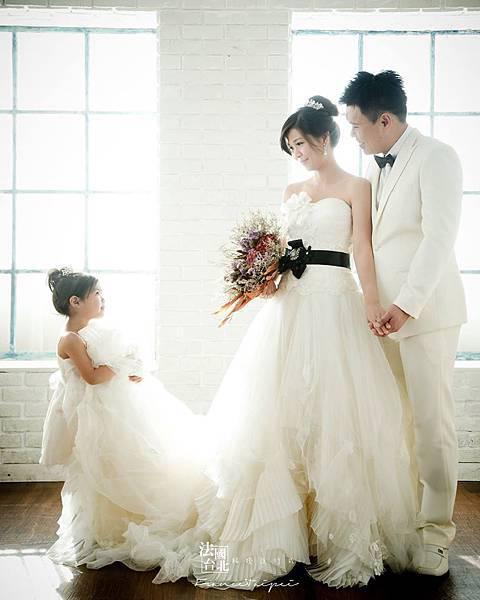 就是愛在一起|全家福攝影-白紗款