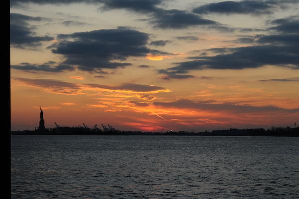 紐約的夕陽