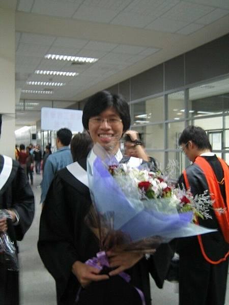 感謝必傑把他的花束貢獻出來XD