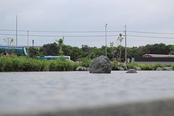 高低起伏的水池