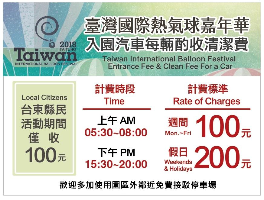 「2018臺灣國際熱氣球嘉年華」台東縣民入園收費優惠方案來囉!