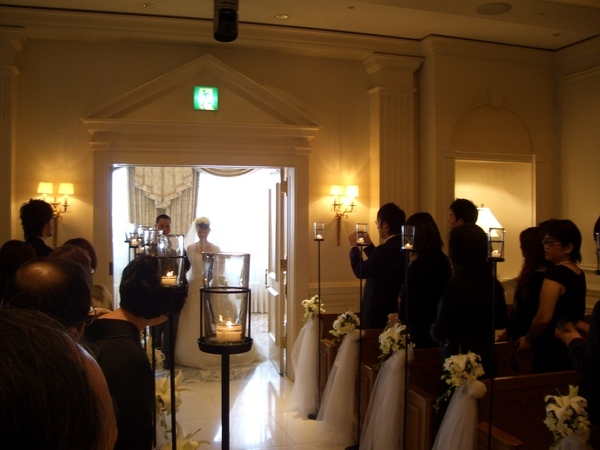 婚禮進場..很模糊