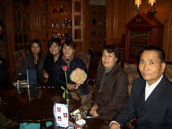 婚禮後兩家相聚喝茶