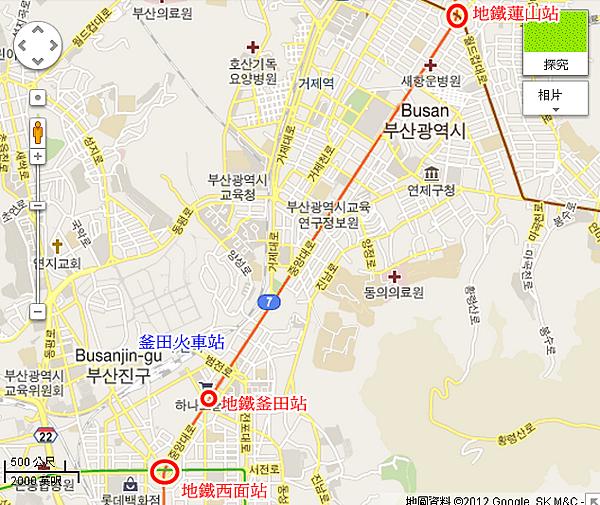 釜田火車站-MAP