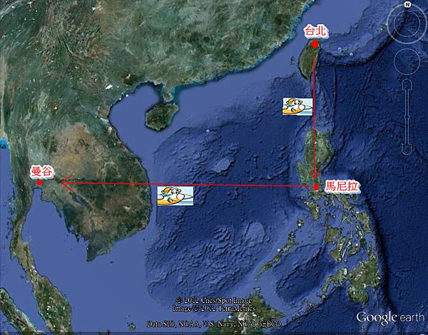 搭宿霧太平洋航空經馬尼拉轉機曼谷