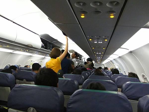 宿霧太平洋航空機艙內