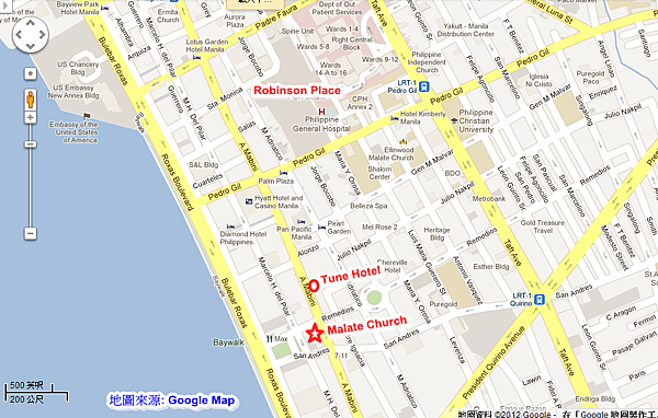 Malate Catholic Church MAP