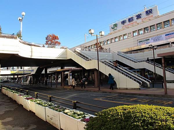50分鐘的車程就可以到宇都宮站(要在這裡轉JR日光線)