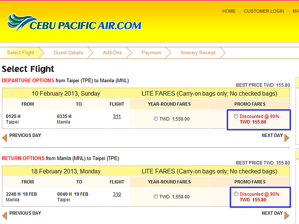 Cebu Pacific Air Promotion