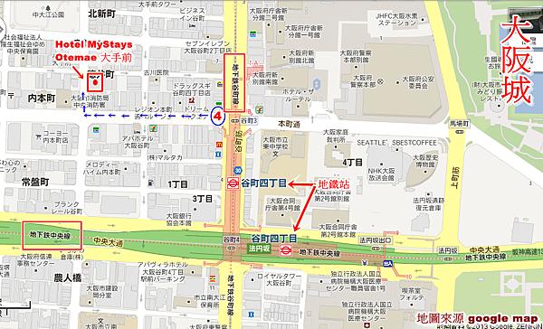 Hotel MyStays Otemae 大手前分店 MAP