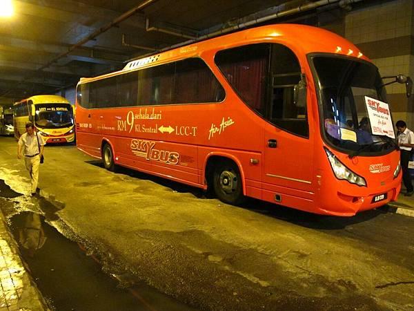 LCCT搭機場巴士到吉隆坡市區 8~9RM