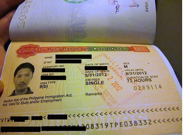Stamped Transit Visa