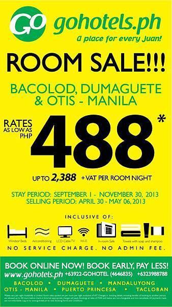 Go Hotel Otis promotion 488