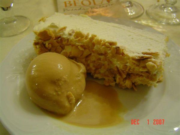 甜點‧奶油千層派+榛果冰淇淋