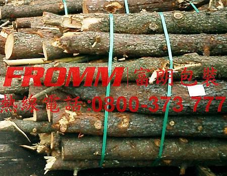 打包木柴【FROMM 富朗包裝】電動打包機,電池式打包機,充電式打包機,塑鋼帶打包機,塑帶打包機