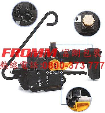 P355塑鋼帶打包機,氣動打帶機,塑帶氣動打包機【FROMM 富朗包裝】使用說明圖