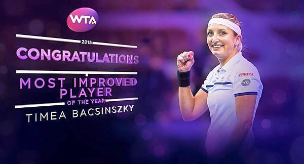 瑞士FROMM富朗包裝做為Timea Bacsinszky的長期合作夥伴,恭喜Timea獲得WTA 2015年 年度最佳進步球星,目前世界網球女單個人排名來到前10名!.jpg