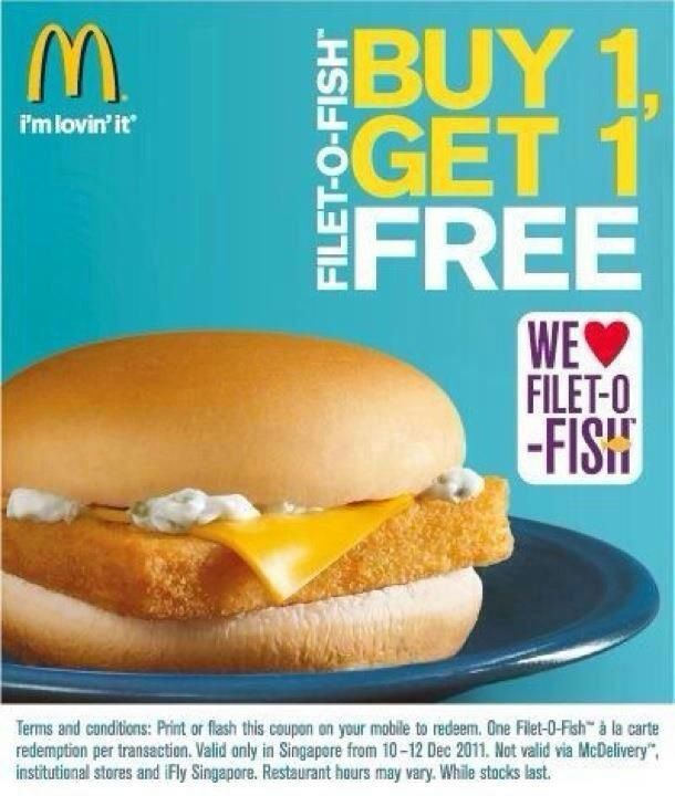 McDonald's Fish Burger Promo