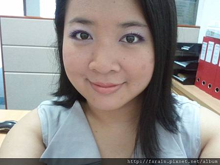 Office Week LOTD-15Mar12-Purple-ish Eyes & Peachy Lips8