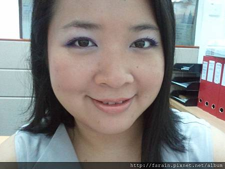 Office Week LOTD-15Mar12-Purple-ish Eyes & Peachy Lips9