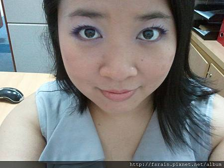 Office Week LOTD-15Mar12-Purple-ish Eyes & Peachy Lips10