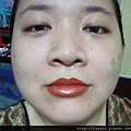 SilkyGirl Moisture Max Lipcolour-07 Orange Crush overlay AmuSe Lipliner-swatch
