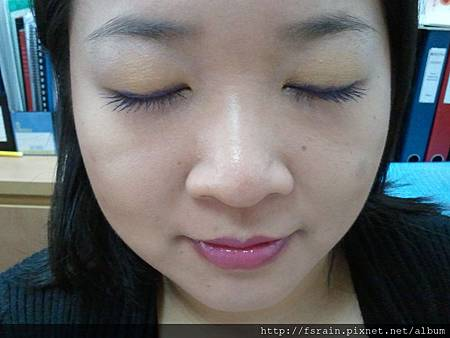 Office Week LOTD-11Apr12-Peeking Orange Purple Lash5