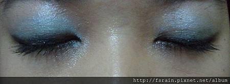 Office Week Series-16 May 2012-AmuSe Big Fan makeup Kit-Teal blue-7-eyes closeup